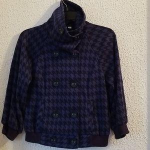 frenchi Blue & Black Houndstooth jacket Blazer (S)